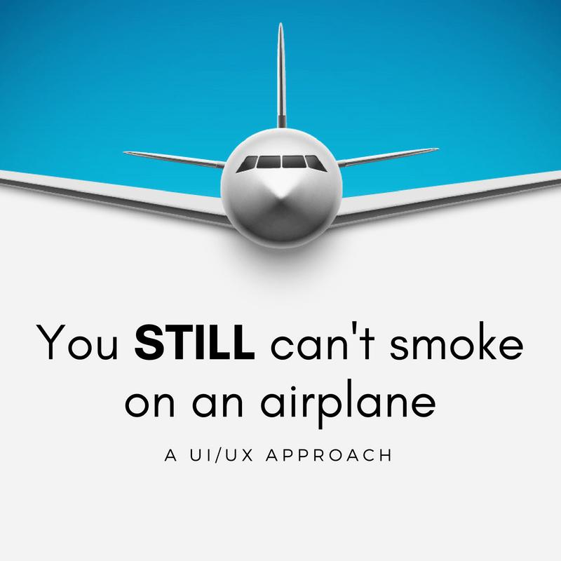 airplane ui/ux smoking